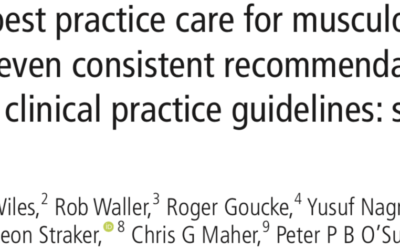 What does good Musculoskeletal care look like?